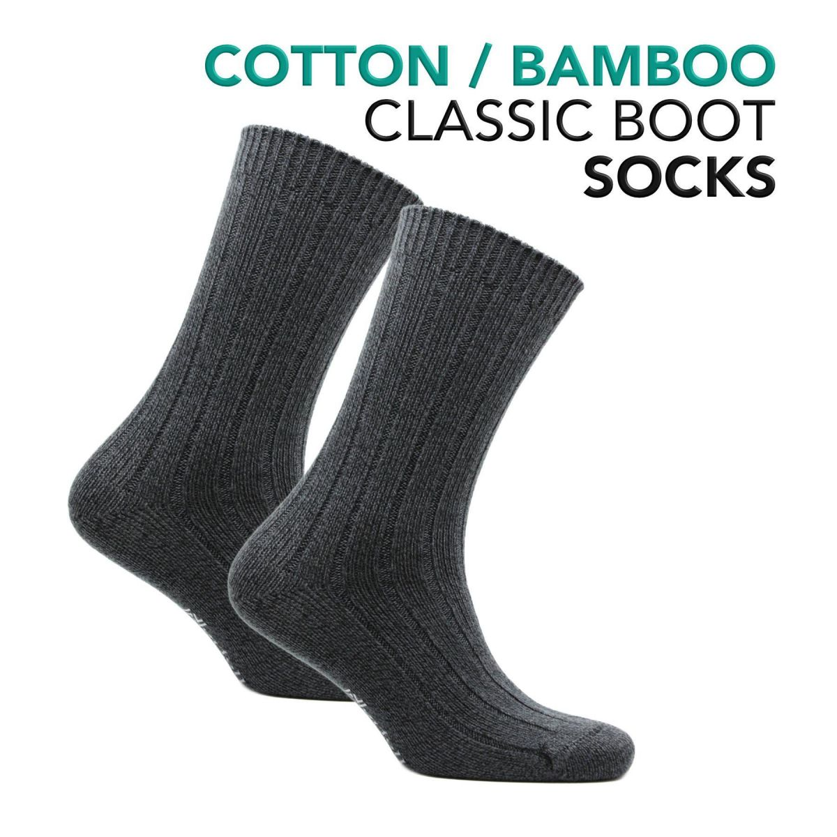 Womens Bamboo and Cotton Classic Boot Socks - Suzy