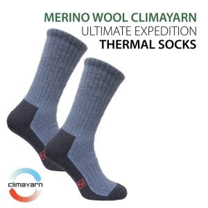 Ultimate Fully Cushioned Thermal Expedition Socks with 'CLIMAYARN' Technology - Nasuh
